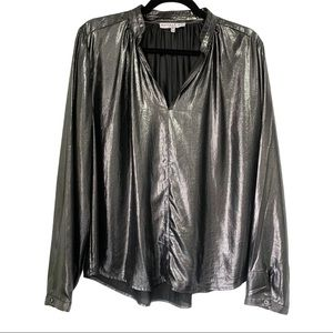 Anthro/Current Air Metallic Shine Blouse